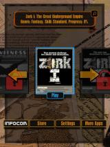 Lost Treasures of Infocom iPad Zork I is free - others are locked until purchased