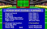 ABC Monday Night Football DOS Menu of Playmaker utility (EGA/Tandy)