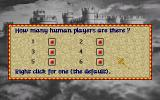 Lords of the Realm Amiga Main Menu: Set number of human players
