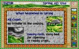 Lords of the Realm Amiga Seasonal report of what happened in territory.
