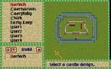 Lords of the Realm Amiga Pick a castle design.