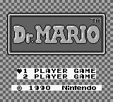 Dr. Mario Game Boy Title screen