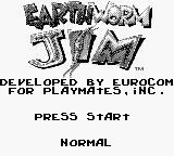 Earthworm Jim Game Boy Title screen