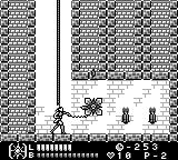 Castlevania Legends Game Boy Stage 5: Ah, a medieval turret