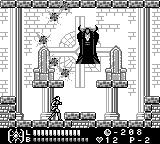 Castlevania Legends Game Boy Dracula - first form
