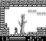 Castlevania Legends Game Boy Level 1: It's a dead end, but at least there's a 1-up!
