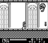 Castlevania Legends Game Boy Level 2: These skulls cleverly attack you once you turn away