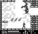 Castlevania Legends Game Boy Stage 3 midboss