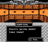 Might and Magic: Book One - Secret of the Inner Sanctum NES Stairs?