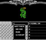 Might and Magic: Book One - Secret of the Inner Sanctum NES Goblin wants fight.