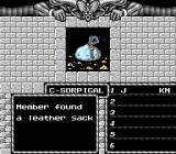 Might and Magic: Book One - Secret of the Inner Sanctum NES Found a sack with gold.