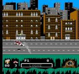 Ghostbusters II NES ... or runs into an obstacles...