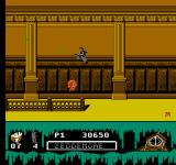 Ghostbusters II NES In the courthouse, several symbols of american justice seek to stop the Ghostbusters