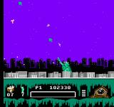 Ghostbusters II NES Firing diagonally thanks to a power-up