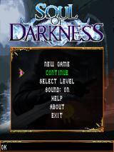 Soul of Darkness J2ME Main menu