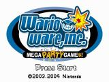 WarioWare, Inc.: Mega Party Game$! GameCube Title Screen