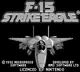 F-15 Strike Eagle Game Boy Title screen