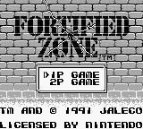 Fortified Zone Game Boy Title screen