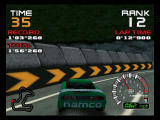 Ridge Racer 64 Nintendo 64 hit in the crash barrier.