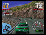 Ridge Racer 64 Nintendo 64 Glide on the barrier.