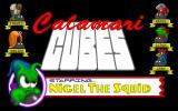 Calamari Cubes DOS This screen follows the short animation, it shows the characters in the game. The game pauses here until a button / mouse is clicked.