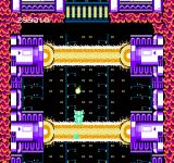 Abadox: The Deadly Inner War NES Giant lethal laser beams fire in pattern