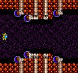 Abadox: The Deadly Inner War NES Travelling quickly down this corridor