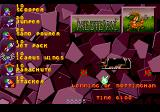 Lemmings 2: The Tribes Genesis Medieval Tribe - Level One overview.