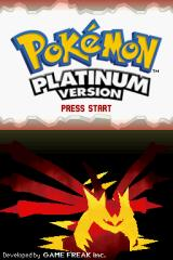 Pokémon Platinum Version Nintendo DS Title Screen