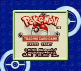 Pokémon Trading Card Game Game Boy Color Title screen (SGB)