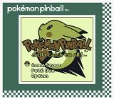 Pokémon Pinball Game Boy Color Title screen (SGB)
