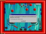 Moraff's Cyber Pinball Windows Playing a table that has a lower resolution than the player's system generates a red border around the play area