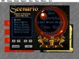 Warlords II DOS Choosing a scenario, note the tutorial.