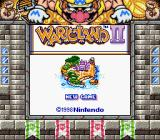 Wario Land II Game Boy Color Title screen (SGB)