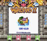 Wario Land II Game Boy Title screen (SGB)