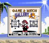 Game & Watch Gallery 2 Game Boy Color Title screen (SGB)