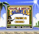 Game & Watch Gallery 3 Game Boy Color Title screen (SGB)