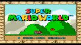 Super Mario World Wii Title screen