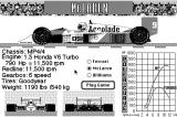 Grand Prix Circuit Macintosh Car select - McLaren