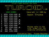 Turoid DOS Title screen