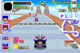 Konami Krazy Racers Game Boy Advance typical race