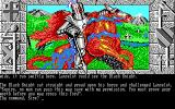 Lancelot DOS It's the Black Knight! (EGA medium res)