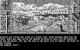 Lancelot DOS Starting the game (CGA monochrome)