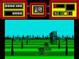 Future Bike Simulator ZX Spectrum enemy on road.