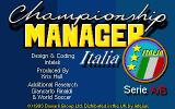 Championship Manager Italia Atari ST Title screen