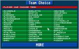 Championship Manager Italia Atari ST Team selection screen