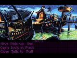 "Monkey Island 2: LeChuck's Revenge Macintosh Exploring after turning the ""rough"" mode on. I could live with it, but turned graphics smoothing back on right after this."