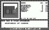 Curse of the Azure Bonds Atari ST In front of a weapon shop (monochrome)
