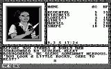 Curse of the Azure Bonds Atari ST After arriving at the thieves guild, the party is invited to rest (monochrome)