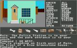 Borrowed Time Atari ST In front of blue house.